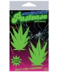 Pastease Petites Glow in the Dark Leaf O/S - Pack of 2