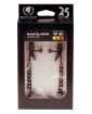 Blackline Broad Tip Adjustable Nipple Clamps w/Chain - Black