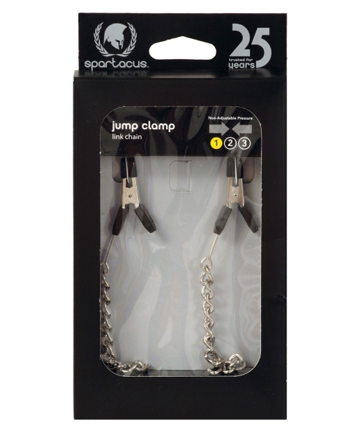 Endurance Jumper Cable Nipple Clamps w/Silver Chain