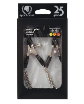Adjustable Micro Plier Nipple Clamps w/Link Chain