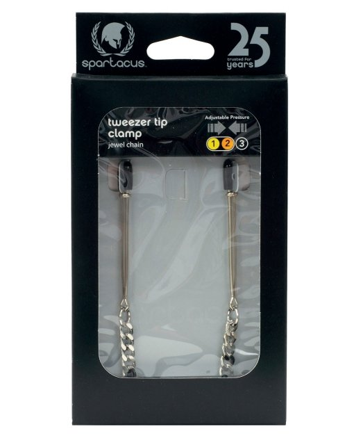 Adjustable Tweezer Nipple Clamps w/Jewel Chain
