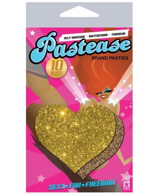 Pastease Gold Glitter Heart O/S