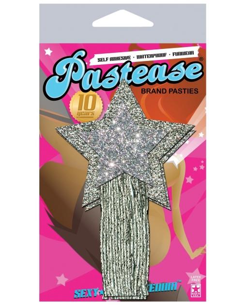 Pastease Silver Glitter Tassle Stars O/S