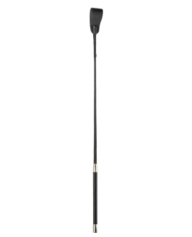 "Spartacus 18"" Medium Tip Riding Crop - Black"