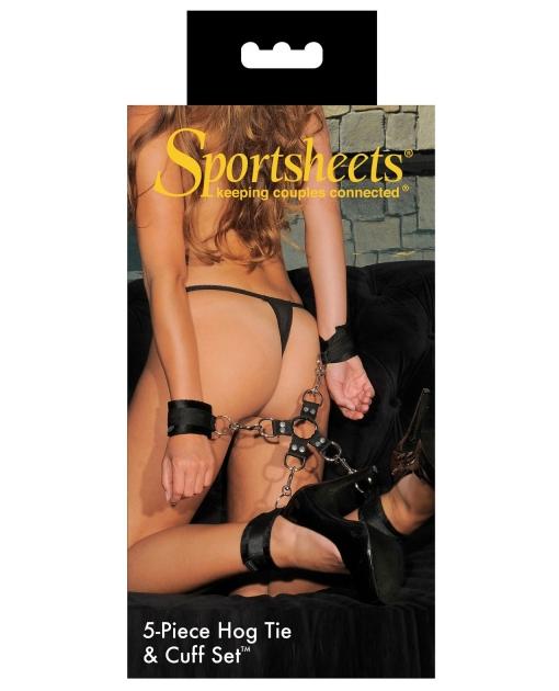 Sportsheets Five Piece Hog Tie & Cuff Set