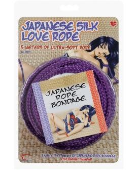 Japanese Silk Love Rope - 16' Purple
