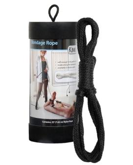 """Kinklab 25"""" Bondage Rope - Black"""