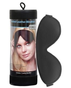 Kinklab Padded Leather Blindfold - Black