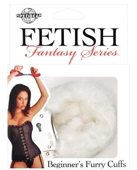Fetish Fantasy Series Beginners Furry Cuffs - White