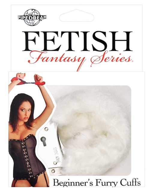Fetish Fantasy Series Beginners Furry Cuffs - White