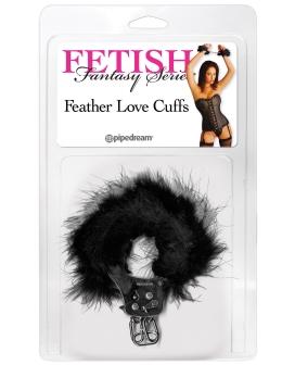 Fetish Fantasy Feather Love Cuffs - Black