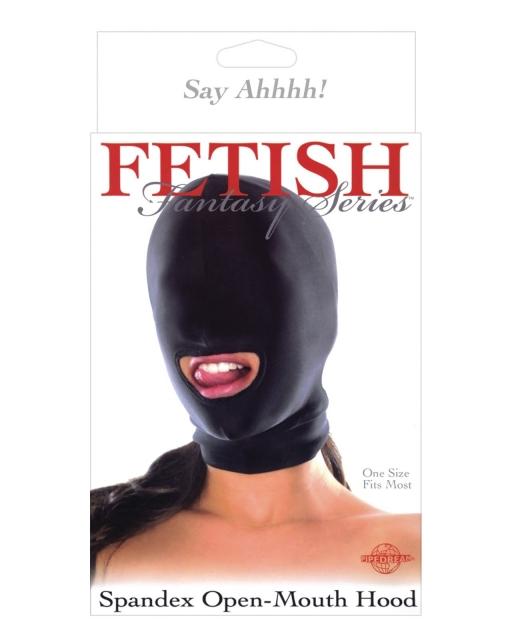 Fetish Fantasy Series Spandex Open Mouth Hood