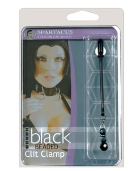 Black Beaded Clit Clamps
