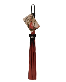 "Ruff Doggie 12"" Love Knot Flogger - Red w/Black Bow"
