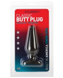Classic Butt Plug - Medium Black