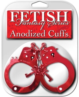 Fetish Fantasy Series Anodized Cuffs - Red