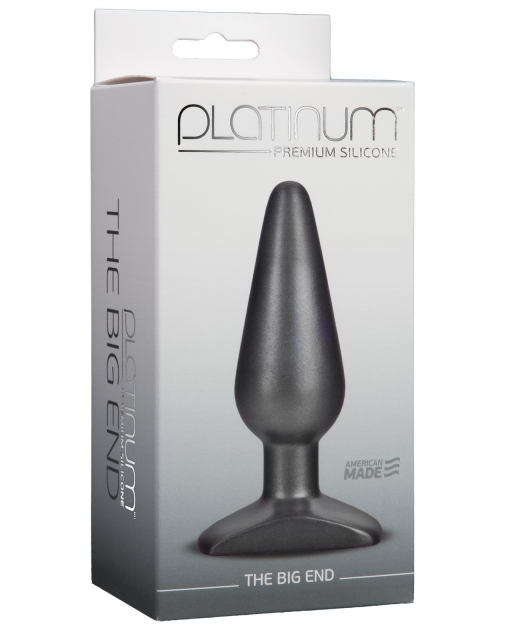 Platinum Silicone The Big End - Charcoal