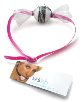 Kinklab Jawbreaker Ball Gag - Pink PVC