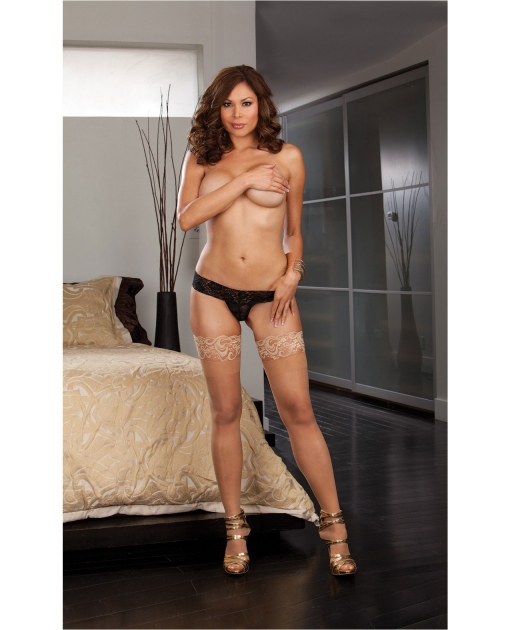 Stay Up Thigh Highs w/Lace Top Nude QN