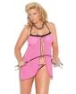 Vivace Mesh Babydoll & G-String Pink QN