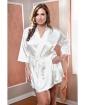 Satin 3/4 Sleeve Robe w/Matching Sash White 3X/4X