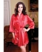 Satin 3/4 Sleeve Robe w/Matching Sash Red L/XL