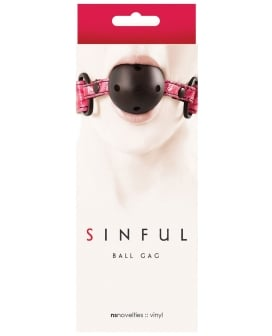 NS Novelties Sinful Ball Gag - Pink