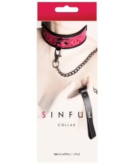 NS Novelties Sinful Collar - Pink