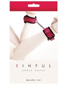 NS Novelties Sinful Ankle Cuffs - Pink