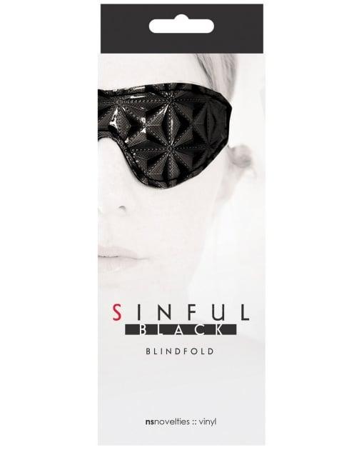 NS Novelties Sinful Blindfold - Black
