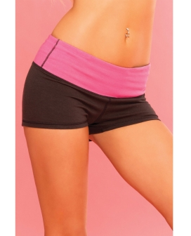 Pink Lipstick Sweat Yoga Pant Thick Reversible for Support & Compression w/Secret Pocket Black MD