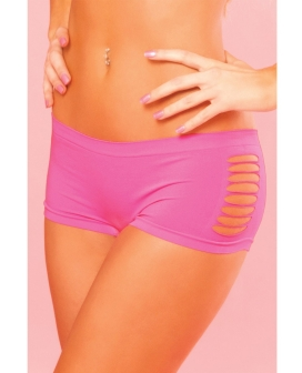 Pink Lipstick Sweat Pure Performance Side Slash Hot Short Pink M/L