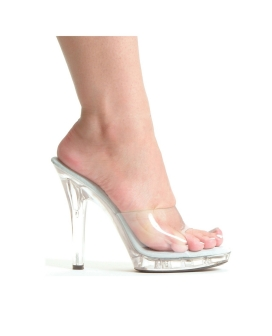 "Ellie Shoes M-Vanity 5"" Pump Clear Six"