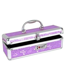 Lockable Vibrator Case - Purple