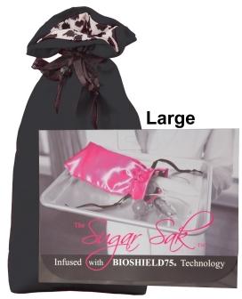 Sugar Sak Anti-Bacterial Toy Bag Large - Black