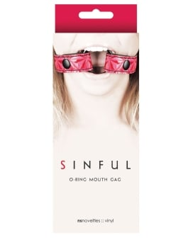 NS Novelties Sinful O Ring Mouth Gag - Pink