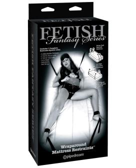 Fetish Fantasy Limited Edition Wraparound Mattress Restraints - Black