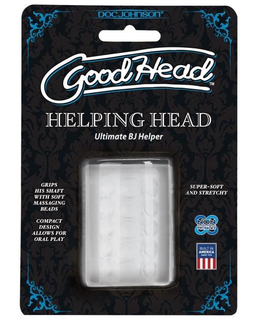 Good Head Helping Head Ultimate BJ Helper 2in Masturbator - Clear