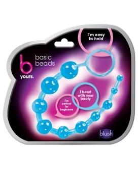 Blush Basic Anal Beads - Blue