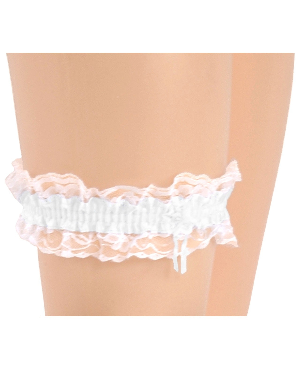 Bridal garter white for Garter under wedding dress