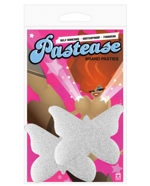 Pastease Silver Glitter Butterfly O/S