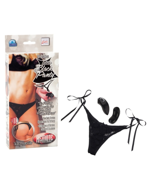 10 Function Little Black Panty - Thong