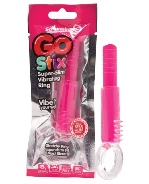 Screaming O GO Stix Super Slim Vibrating Ring - Strawberry