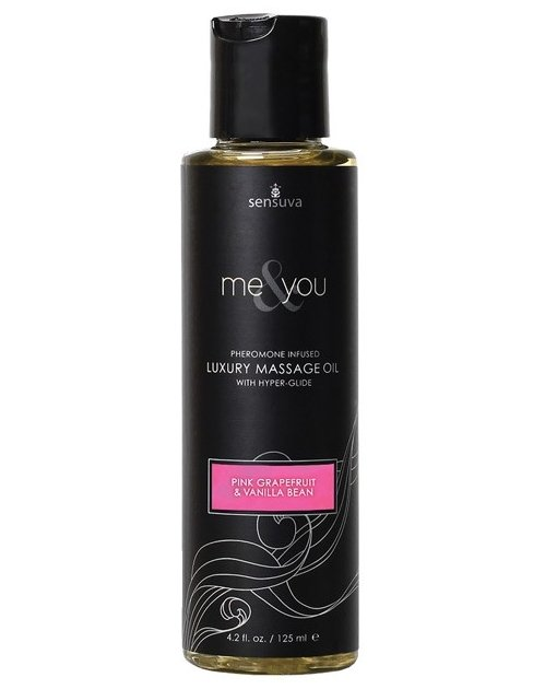 Sensuva Me & You Massage Oil - 4.2 oz Grapefruit Vanilla