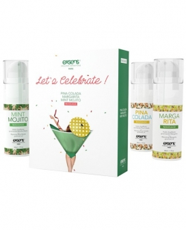 Exsens of Paris Let's Celebrate Massage Oil Set