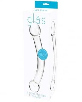 """Glas 7"""" Curved Glass G Spot Stimulator - Clear"""