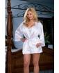 Nuptial Bride Charmeuse Robe & Babydoll White 3X/4X