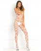 Rene Rofe Strapped Up Sheer Bodystocking White O/S