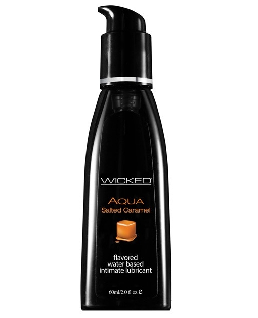 Wicked Sensual Care Collection Aqua Waterbased Lubricant - 2 oz Salted Caramel