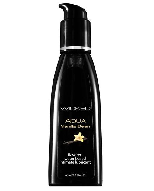 Wicked Sensual Care Collection Aqua Waterbased Lubricant - 2 oz Vanilla Bean